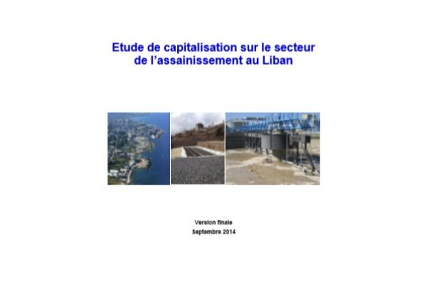 Etude de capitalisation sur le secteur de l'assainissement au Liban
