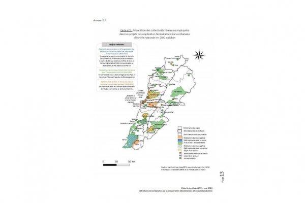 Cartographie des zones blanches de la coopération décentralisée franco-libanaise
