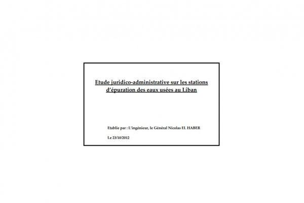 Etude juridico-administrative sur les stations d'épuration des eaux usées au Liban