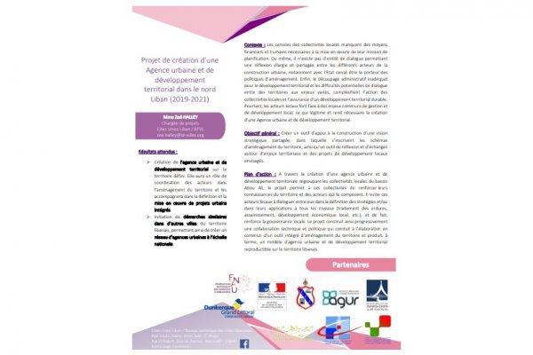 Fiche projet - Création d'une Agence urbaine et de développement territorial dans le nord Liban