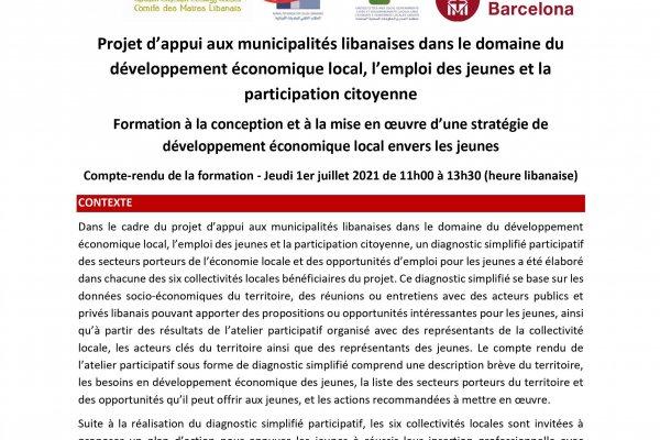 DIBA - Compte Rendu formation stratégie Développement économique
